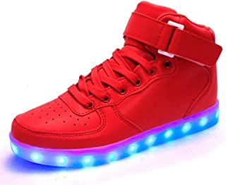 KALEIDO ShinyNight USB Charging 11 Colors Led Light Up Shoes Fashion Sneakers Sport Shoes for Mens Womens Girls Boys