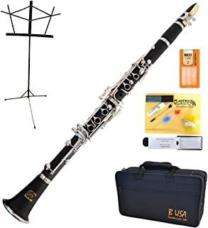 Bridgecraft WCL-GBK1 Apprentice Series Bb Clarinet Package Simulated Wood Grain Finish with Care Kit, Stand and Deluxe Case