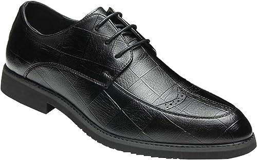 Hhor Chaussures Brogue Brogue pour Hommes. Chaussures Derby en Dentelle. Robe de Ville. Chaussures de Ville. (Couleuré   5, Taille   41EU)  prix le moins cher