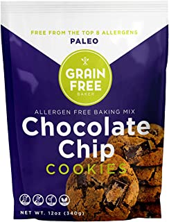 Gluten Free Paleo Chocolate Chip Cookie Baking Mix by The Grain Free Baker - Vegan & Gluten Free - Low Carb & Refined Suga...