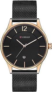 CURREN Men Analog-Quartz Watch Ultra-Thin Dail Calendar Stainless Steel mesh Band Wristwatch 8231