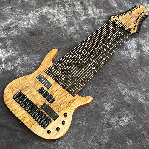 Florwesr Benutzerdefinierte 17 String E-Bass-Gitarre Palisandergriffbrett Fretless Inlay Individuelle (Size : 43 inches)
