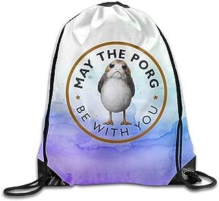MissMr Porg Belt Backpack,Fashion Trend, Polyester Sports Bag,Net Red Part,Men's Handbag,Ladies,Teenager,Adult,Outdoor Work,Office,Lunch Box