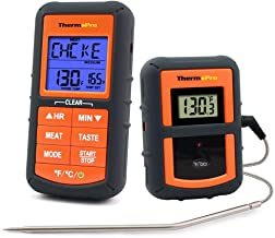 ThermoPro TP-07 Wireless Remote Digital Cooking Turkey Food Meat Thermometer for Grilling Oven Kitchen Smoker BBQ Grill Thermometer with Probe, 300 Feet Range (Renewed)