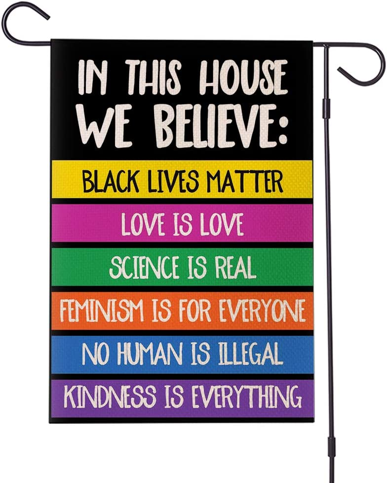 Doreen's Boutique We Believe Yard Flag - Human Rights Justice Sign, BLM Lawn Sign, Feminism Sign, Protest Sign – 1 Pc (New-WB)