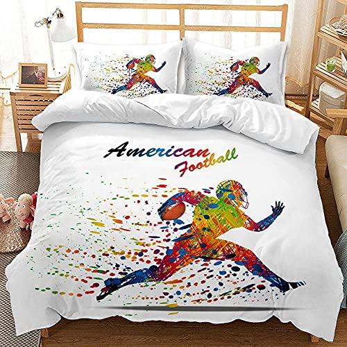Funda de almohada con diseño de impresión 3D de rugby,a los entusiastas de los deportes les gusta decorar el juego de ropa de cama del dormitorio,para una cama individual doble Queen-8_240*220(3pcs)