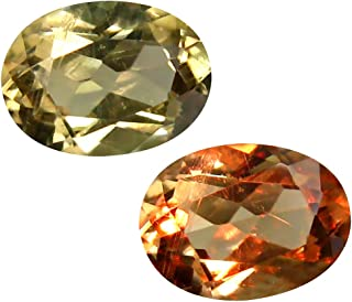 Deluxe Gems 2.09 ct Oval Cut (9 x 7 mm) Unheated/Untreated Turkish Color Change Diaspore Natural Loose Gemstone