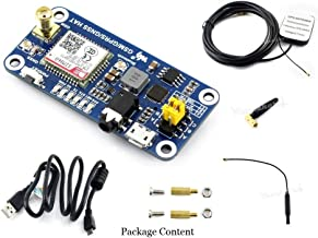 GSM/GPRS/GNSS Bluetooth HAT Expansion Board for Raspberry Pi 3B/3B+/2B/ Zero/Zero W GSM Module Based on SIM868 Support Global Position,Transfer Data,Make a Call, Send Messages etc.