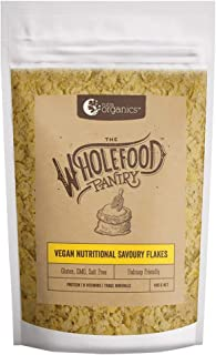 Nutra Organics The Wholefood Pantry Vegan Nutritional Savoury Flakes 400 g, 400 grams
