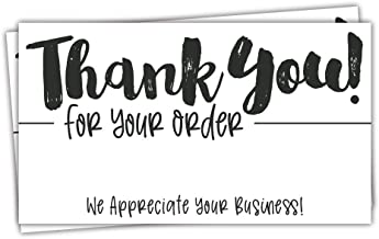 50 Thank You for Your Order Cards - Customer Thank You Cards - Package Insert