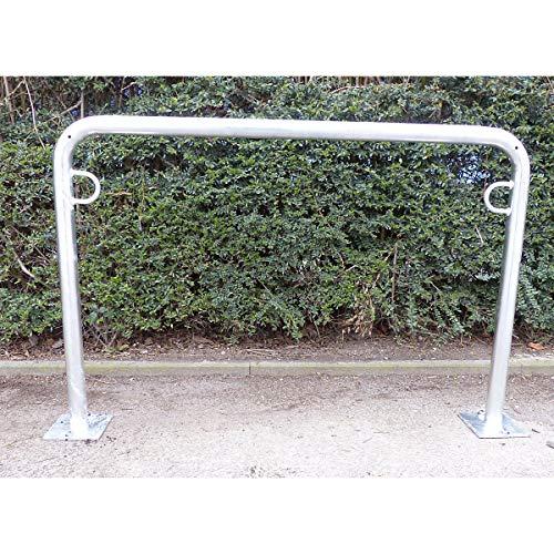 Arceau range-vélos 850 mm hors sol - à cheviller, galvanisé à chaud - en forme de U, longueur 1250 mm - Etrier Support cycles Support pour bicyclettes Support pour cycles Supports cycles Range-vélos Support-cycles Supports-cycles