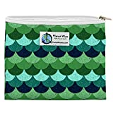 Planet Wise Reusable Zipper Sandwich and Snack Bags, Sandwich, Loch Ness Poly