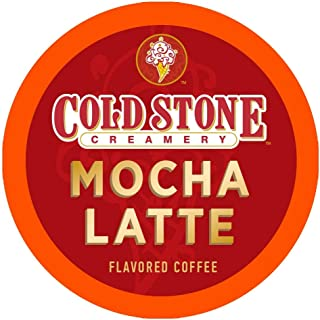 Cold Stone Creamery Flavored Coffee | Mocha Latte Flavor | Single Serve Coffee in Recyclable Cups for all K Cup Coffee Makers, including the Keurig 2.0 Brewer | 24 Count