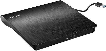 Grabadora CD / DVD Externa Usb 3.0, Rodzon Unidades de DVD Externa Portátil CD / DVD /-RW / ROM Estable con Lector /...