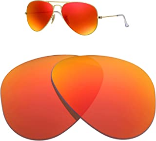 Replacement Glass Lenses for Ray-Ban Aviator RB3025 58mm for Men for Women,UV Protection