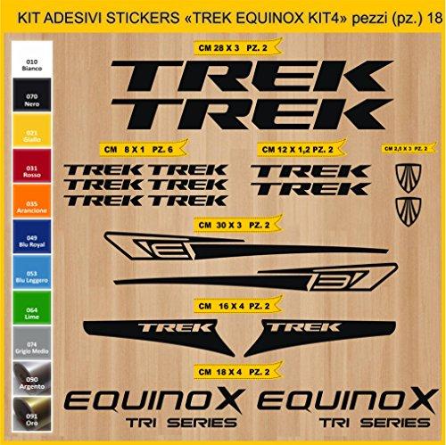 Adesivi Bici Trek Equinox_Kit 4_ Kit Adesivi Stickers 18 Pezzi -Scegli SUBITO Colore- Bike Cycle pegatina cod.0899 (070 Nero)