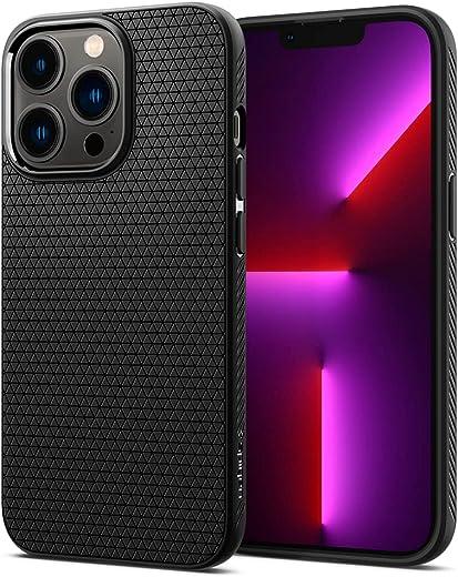 Spigen Liquid Air Back Cover Case Compatible with iPhone 13 Pro (TPU   Matte Black)