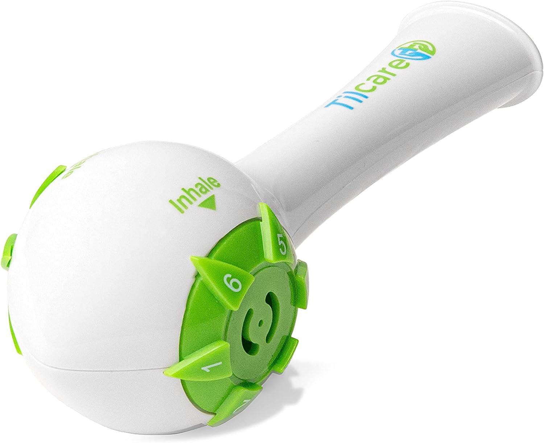 Incentivador respiratorio de Tilcare - Ejercicio pulmonar para desarrollar pulmones fuertes - Ejercitador respiratorio que es una gran terapia sin medicamentos para la EPOC, CHF o la DISFAGIA