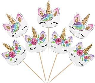 Best rainbow unicorn cake topper Reviews