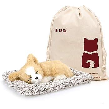 【本格派】 本物そっくりに眠る犬のぬいぐるみ 飾り 可愛い (わんこ-7)