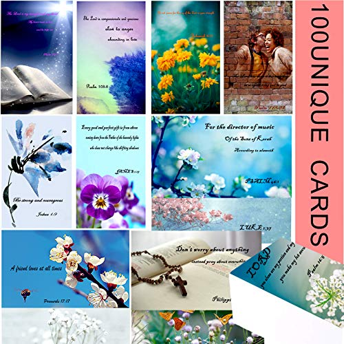 100 Prayer Cards with Assorted Bible Verses,Inspirational Bible Verse Cards,Christian Bible Verses Praying,Scripture Note Cards, Encouragement Cards,Perfect for Women's Bible Studies,Daily Devotional