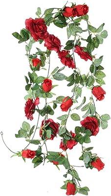 Amazon.com: Togethor - Flores artificiales para colgar en la ...