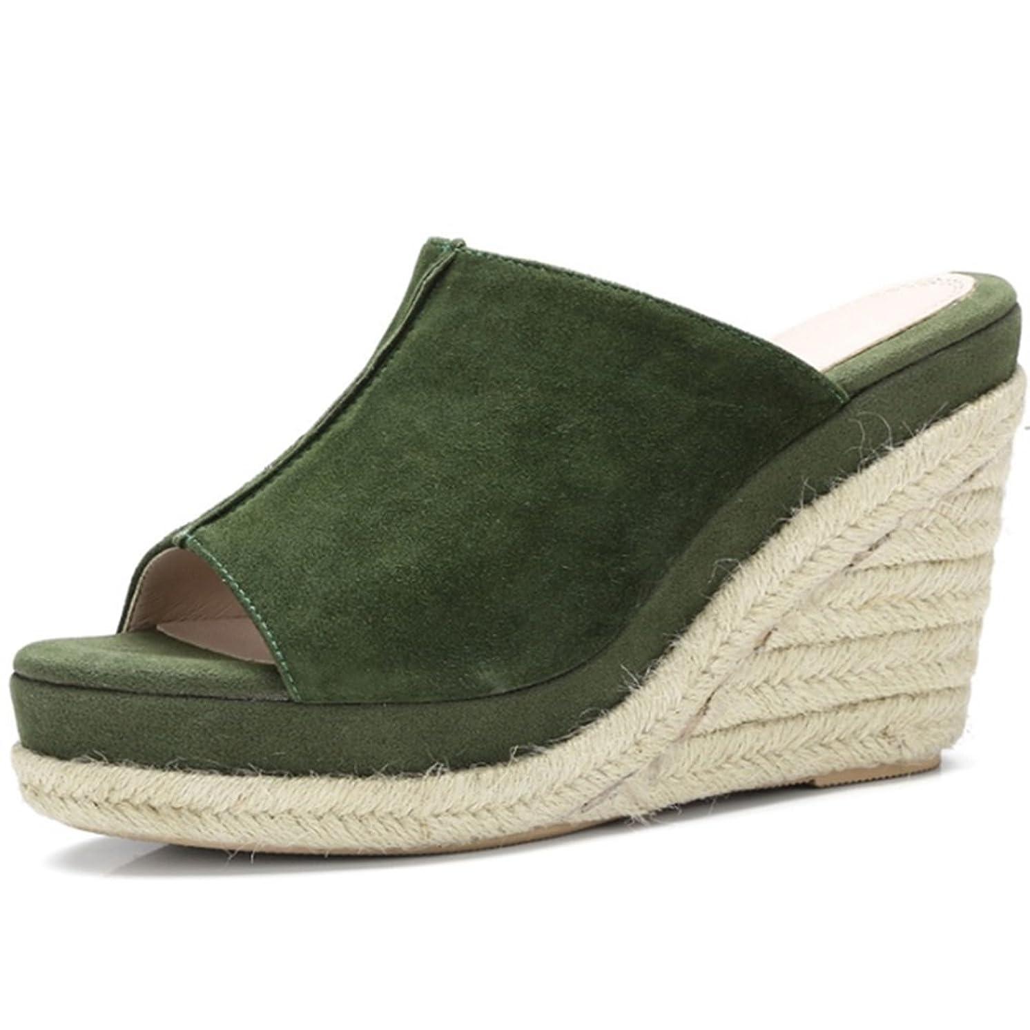動物園半導体保護快適 アウトドアスリッパ付きサマースロープファッションオープントッズシューズハイヒール野生の靴(2色オプション)(オプションのサイズ) 増加した (色 : B, サイズ さいず : 37)