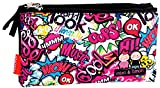 Montichelvo Montichelvo Triple Pencil Pouch M&L Kiss Me Estuches, 23 cm, Multicolor (Multicolour)
