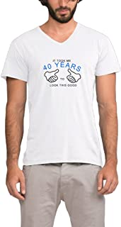 It Took Me 40 Years To Look This Good Mens V-neck T-shirts