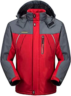 YKARITIANNA Mens Jackets /& Coats Autumn Winter Down /& Down Alternative Warm Cotton Cashmere Thicken Solid Faux Fur Jackets