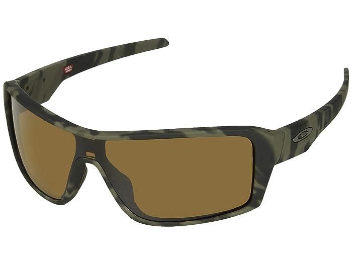 Oakley Ridgeline (Matte Olive Camo/Prizm Tungsten Polarized) Sport Sunglasses