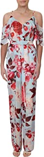Marciano Womens Floral Ruffled Jumpsuit
