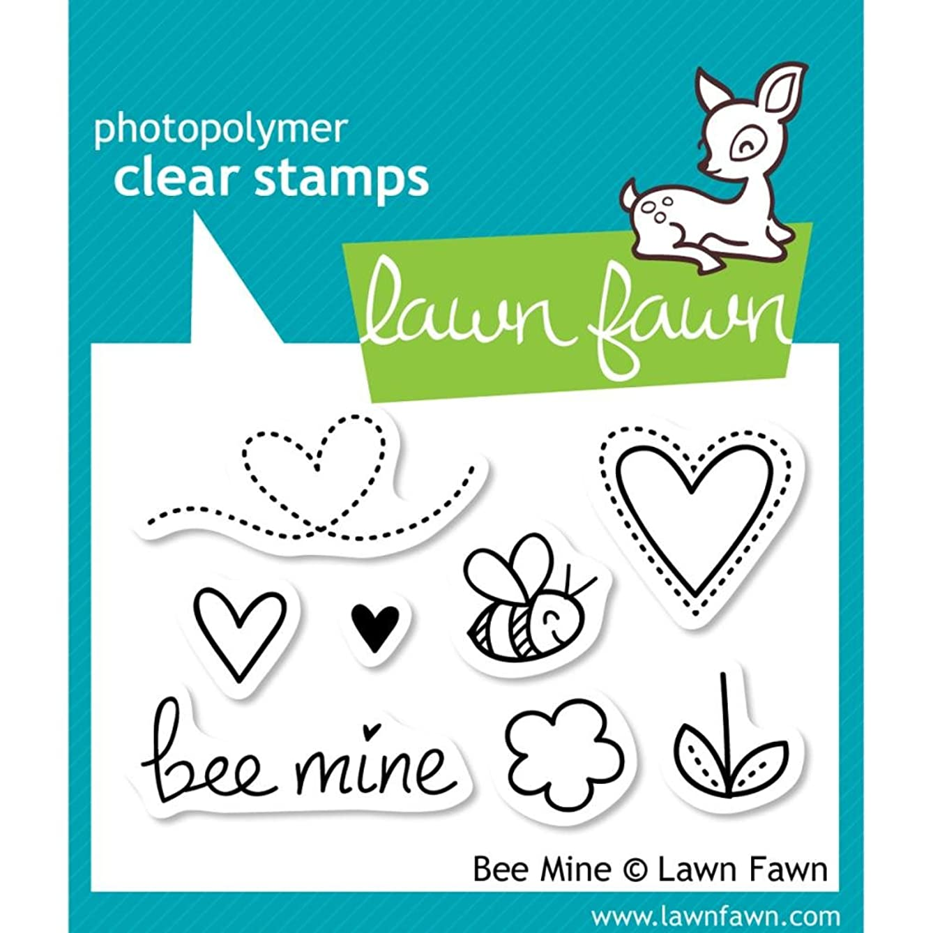 Lawn Fawn Clear Stamps-Bee Mine