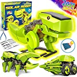 Dinonano STEM Solar Robot Toys for Kids - 3 in 1 Building Games Educational Science Coding Engineering Kit for Boys Girls Ages 5 6 7 8-12 STEM Toys Dinosaur Gift School Family Creative Activities