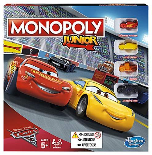 Hasbro Monopoly Junior Cars 3 Niños Simulación económica - Juego de tablero (Simulación económica, Niños, Niño/niña, 5 año(s), Francés, Francés)