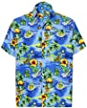 La Leela Hawaiian Shirts For Men Short Sleeve Front-Pocket Tropical Pineapple