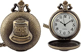 ACDC Hells Bells Bronze Metal Pendant Pocket Watch