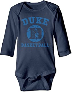 ElishaJ Duke University Babys Unisex Long Sleeve Bodysuit Onesie Navy