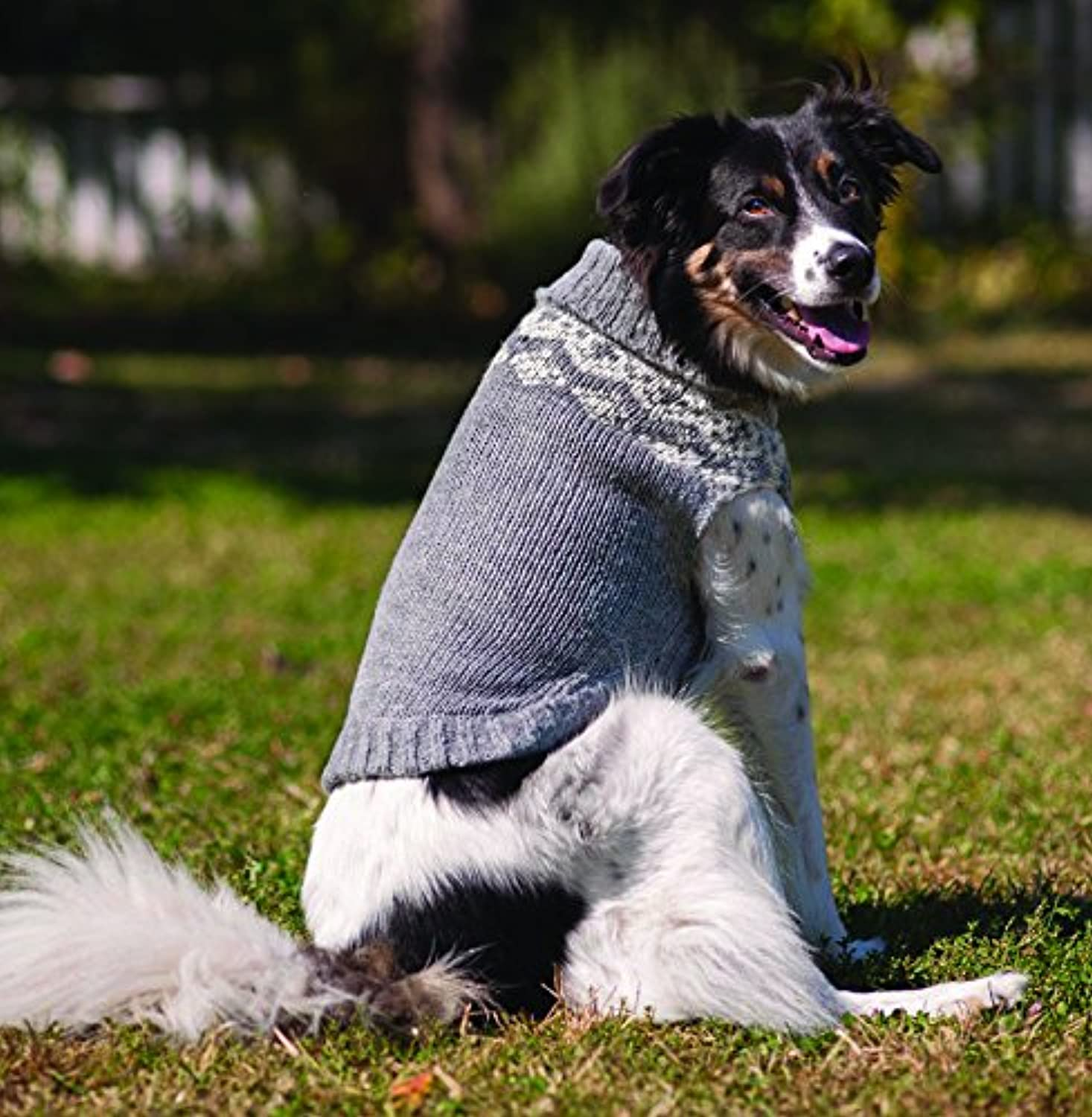 Fashion Pet Multi Crochet Sweater, Medium, Multi