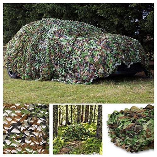 MJHETCY Camouflage Net Camping Sunscreen Nets, Camo Net Camouflage Net Awnings, Camouflage in The Jungle, Shade Net, Solar Mesh, Sunscreen, Tarpaulin Sails for Tent Sun Protection Nets for Camping