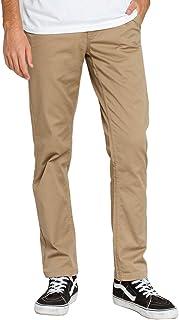 BRIXTON Men's Reserve Standard Fit Chino Pants Pants, Brown, 28