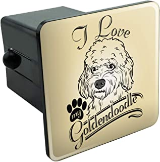 Graphics and More I Love My Goldendoodle Tow Trailer Hitch Cover Plug Insert 2