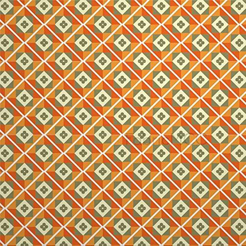 Juego de pegatinas decorativas para azulejos, diseño de artes visuales Dahlia de 10 x 10 cm, adhesivo de vinilo, 12 unidades, resistente al agua, para decoración del hogar