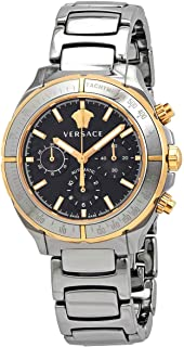Versace Chronograph Automatic Black Dial Men's Two Tone Watch VEK800519