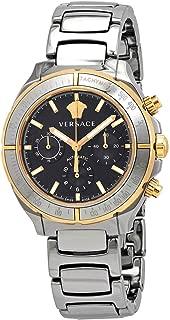 Chronograph Automatic Black Dial Men's Two Tone Watch VEK800519