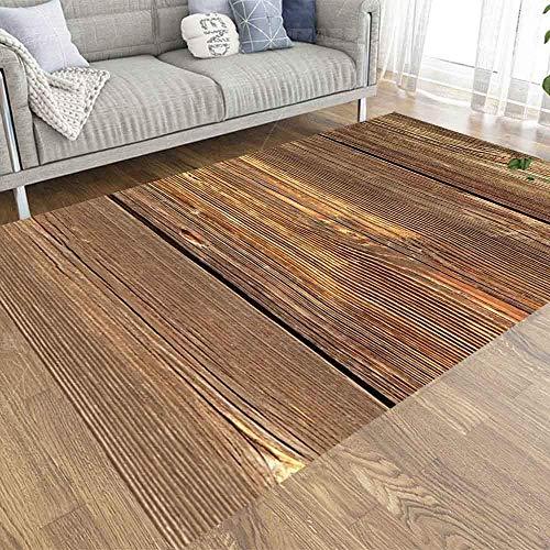 BXYJSHL Alfombra rústica de 3 x 5 cm, con fondo de madera envejecida, suave y moderna, para niños, mascotas, dormitorio, sala de estar, cocina