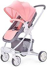 SHJMANST Seguridad Silla de Paseo, Calesa Plegable, Portátil Carrito de Bebé Plegable Anti Choque Vista Alta Carro Infantil, Cinturón de Seguridad de Cinco Puntos Silla