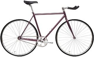 State Bicycle 4130 Chromoly Steel Fixed Geared Bike | Single Speed Bullhorn Handlebar (Renewed)