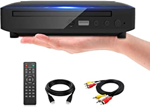 Ceihoit Mini DVD Player, DVD CD/Disc Player for TV with HDMI/AV Output, HDMI/AV Cables Included, HD 1080P Supported Built-...
