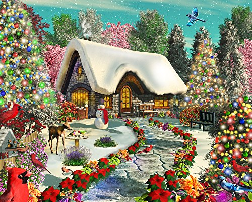 Vermont Christmas Company Snowy Delight Jigsaw Puzzle 1000 Puzzle